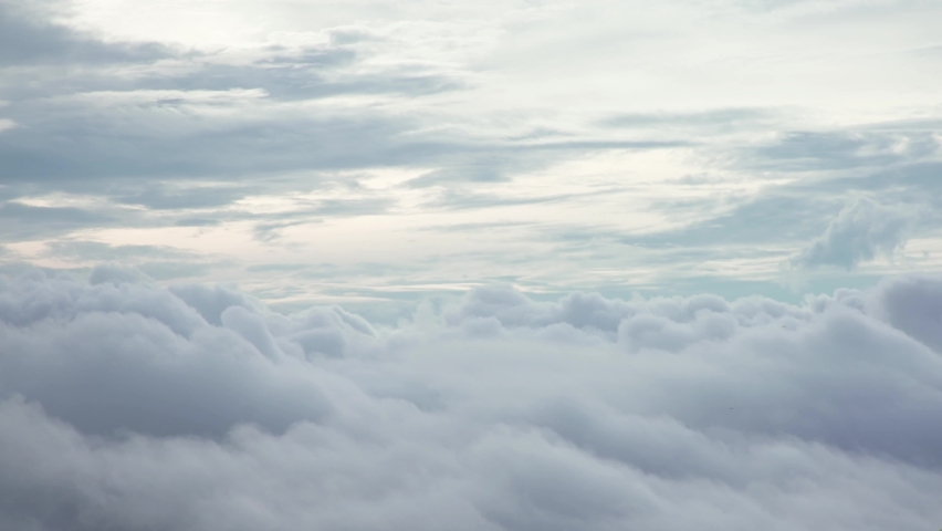 White mist, foggy moving slowly and fluffy cloudy in sky | Shutterstock HD Video #1059297215