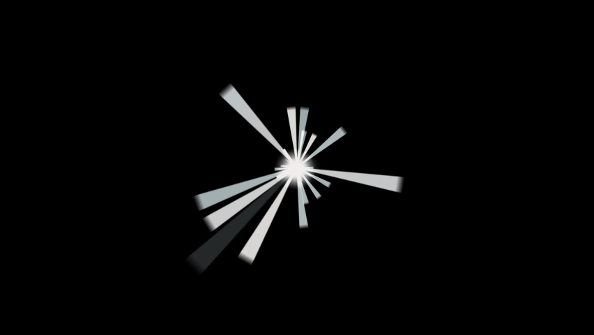 Simply shine ray motion graphic with 3d rendering. | Shutterstock HD Video #1059297341
