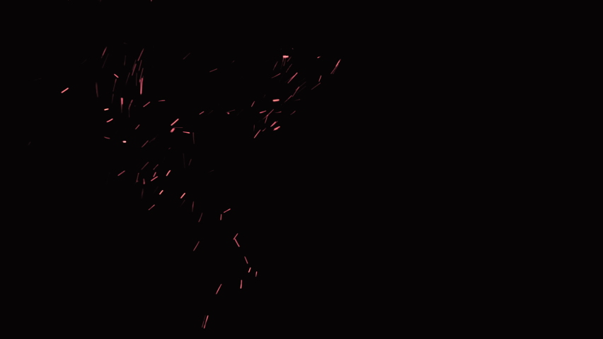 Spark particles on black background, sparks effect, gun powder sparks with smoke effect | Shutterstock HD Video #1059454097