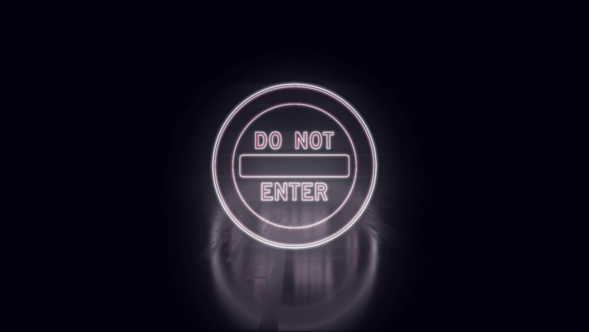 Do Not Enter neon sign light on black background New quality universal vintage motion dynamic animated background colorful video. Neon text. Modern trend design, night neon signboard | Shutterstock HD Video #1059492743