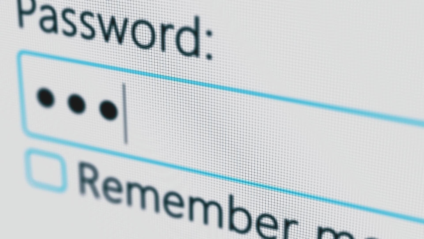 Password Entry. Someone entering their password on a computer screen. Log in to your account. Typing password on Login page Royalty-Free Stock Footage #1059528650