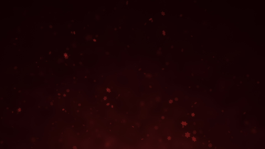 Red vector snowflakes falling on black background | Shutterstock HD Video #1059532658