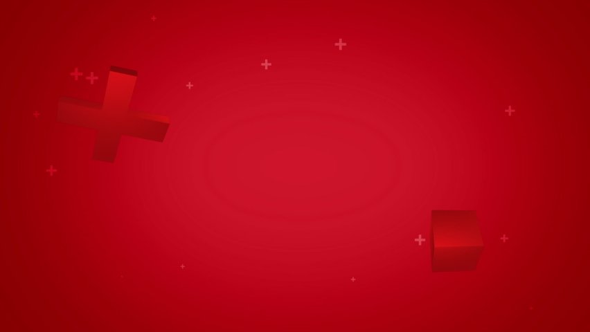 Vibrant red background with moving objects and particles | Shutterstock HD Video #1059551183