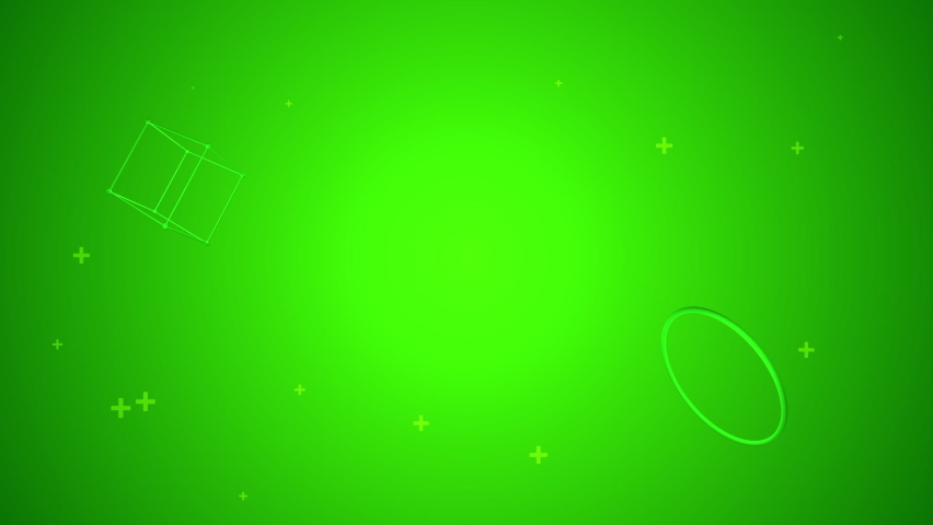 Vibrant green background with moving objects and particles | Shutterstock HD Video #1059551285
