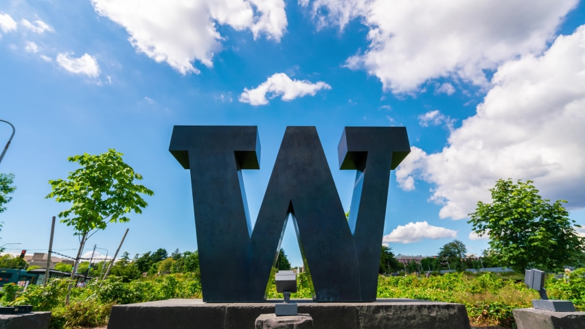 Time-lapse of cloud motion at the W in the University of Washington.