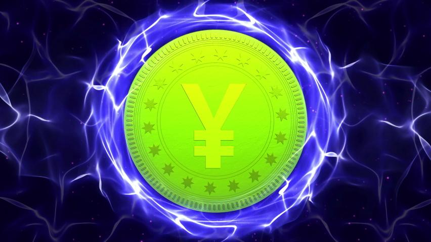 Yen Coins, Currency Money Symbol Animation, Rendering, Background, Loop, 4k    Shutterstock HD Video #1059577244