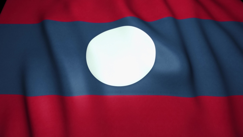 Waving realistic Laos flag background. Loop animation | Shutterstock HD Video #1059580580