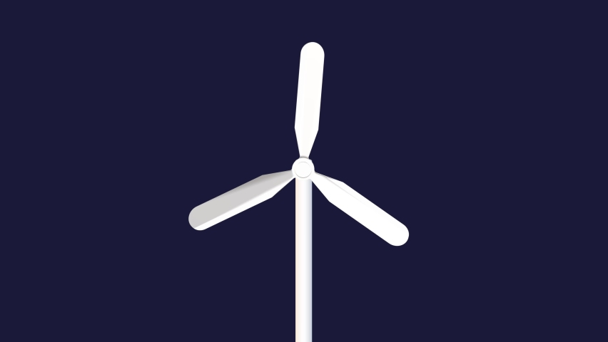 Animated video of a wind mill | Shutterstock HD Video #1059582077