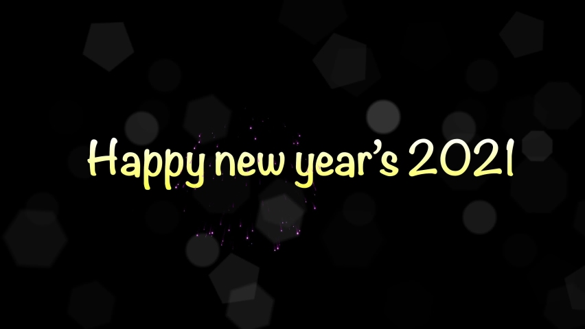 Happy new year 2021 as a title it is on a black background. Celebrate on New Year's Day | Shutterstock HD Video #1059621713