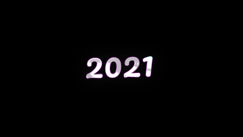 New Year 2021 Glitch sign light on black background New quality universal vintage motion dynamic editorial animated background colorful video. | Shutterstock HD Video #1059622070