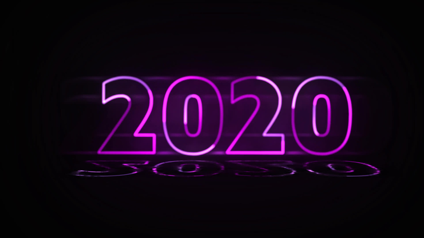2021 Happy New Year, Animated numbers pink, New Year, Shine.Glowing, blinking 2021 neon text. Happy 2021 new year neon banner. 2021 new year sign | Shutterstock HD Video #1059622151