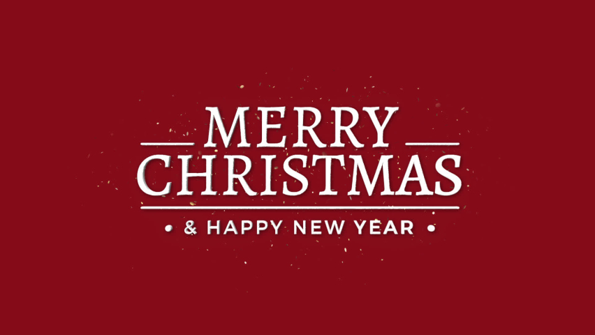 Merry Christmas And Happy New Year + Alpha Channel | Shutterstock HD Video #1059626669
