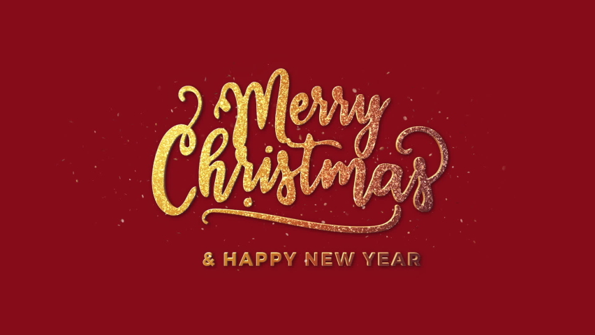 Merry Christmas And Happy New Year + Alpha Channel | Shutterstock HD Video #1059626675