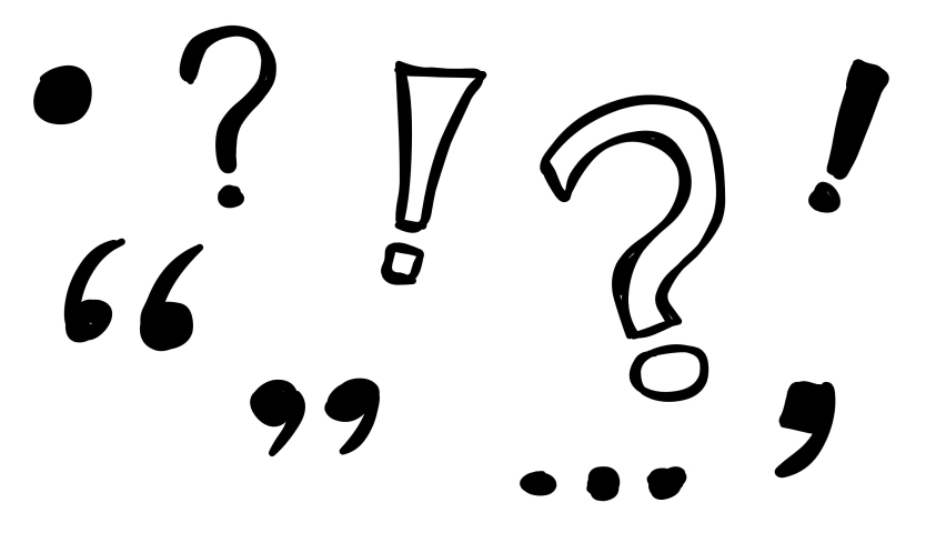 Set of different punctuation marks sketch doodles being animated. Hand-drawn moving scribble on white background. | Shutterstock HD Video #1059635114