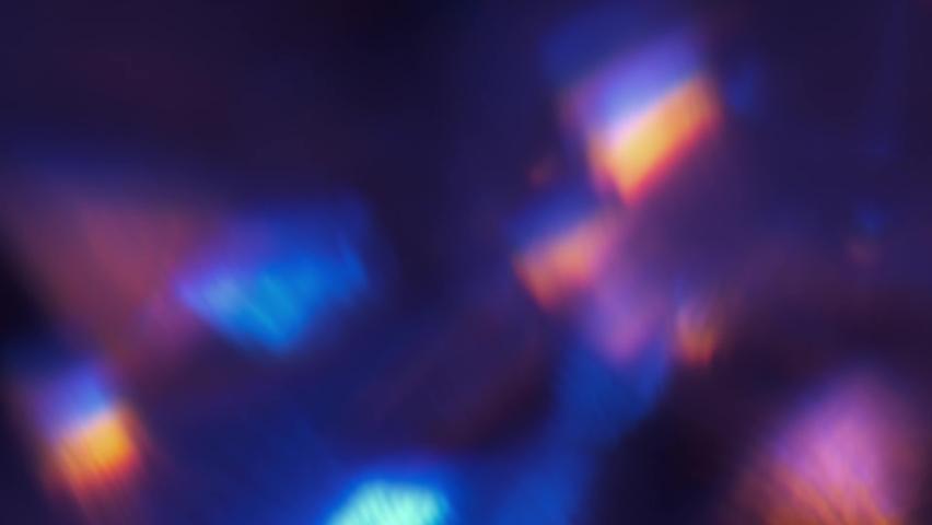 Prism Light Flares Overlay on Black blurred Background.    Shutterstock HD Video #1059649121