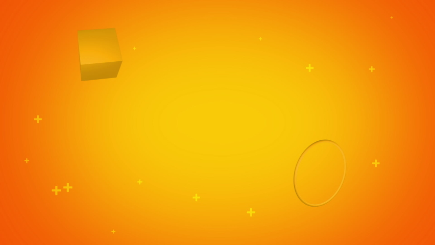Vibrant yellow background with moving objects and particles | Shutterstock HD Video #1059695978