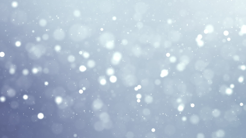 Abstract background white clean particles floating dust. White particle dust for the theme of the presentation.