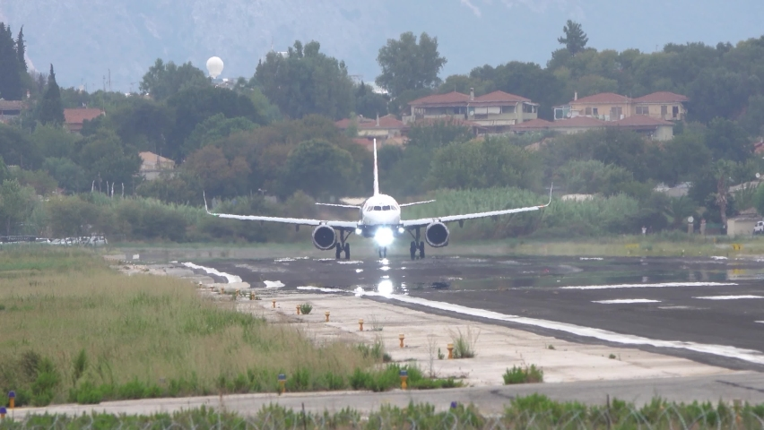 Corfu, Greece – 16 September 2020: An Airbus A321 Neo of British Airways taking off at Corfu Airport (CFU) in Greece. Airbus is an Aircraft manufacturer from Toulouse, France.