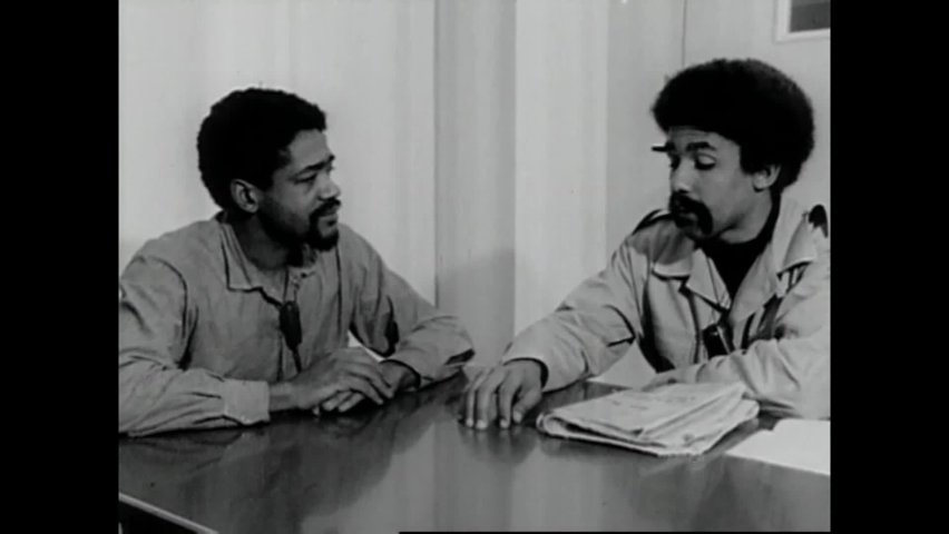 CIRCA 1970 - Black Panther leader Bobby Seale is interviewed at San Francisco County Jail about what food he'd make if he was home.