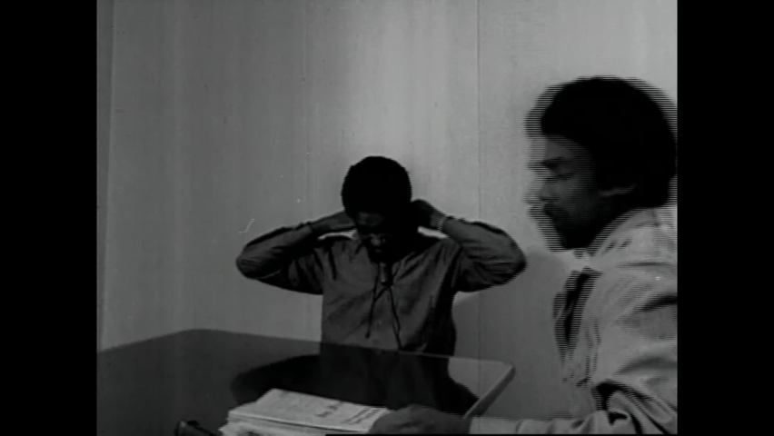 CIRCA 1970 - Black Panther leader Bobby Seale is set to be interviewed from San Francisco County Jail.