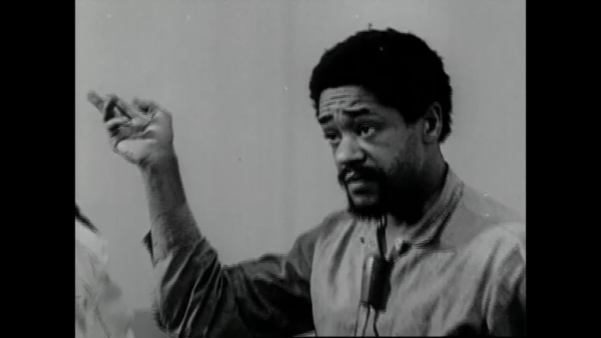 CIRCA 1970 - Black Panther leader Bobby Seale is interviewed at San Francisco County Jail about abuse he faced in solitary confinement.