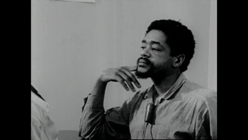 CIRCA 1970 - Black Panther leader Bobby Seale is interviewed at San Francisco County Jail about how white prisoners are treated better.