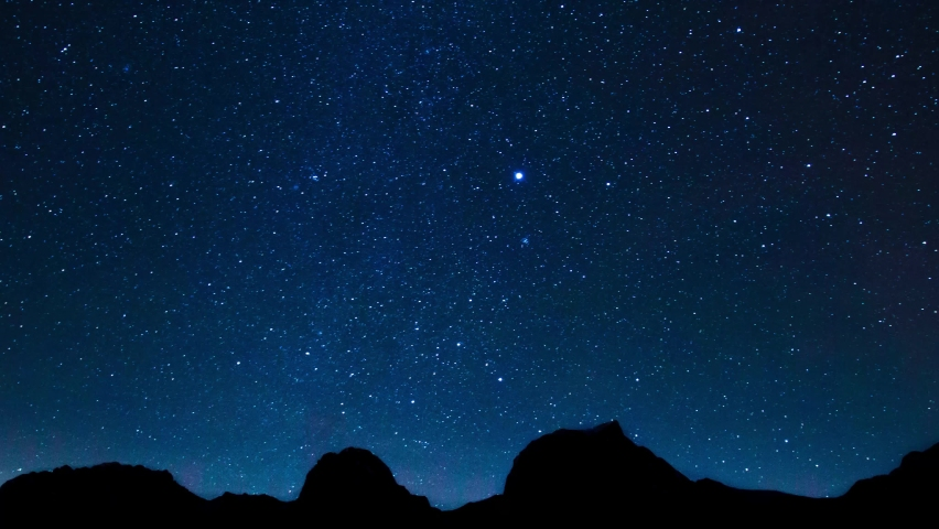 Star Long Exposure Starry Sky Royalty-Free Stock Footage #1059738422