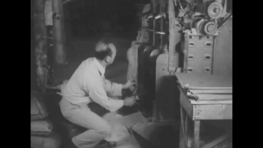 CIRCA 1940s - A National Institute of Health field unit engineer designs an exhaust system, factories and a steel mill are investigated.