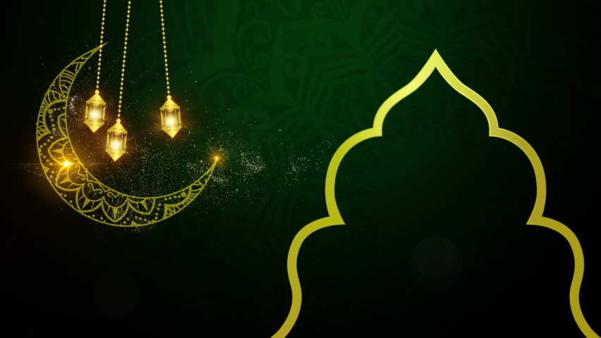 Eid Al Adha Mubarak and Traditional Lanterns Ramadan Islamic Background