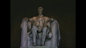 Us / Washington - 1963: Lincoln Memorial. Amateur film clip from the 1960's.