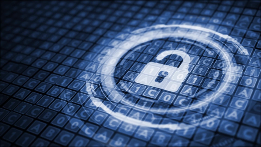 Cyber security data protection business technology privacy concept.  Royalty-Free Stock Footage #1059790772