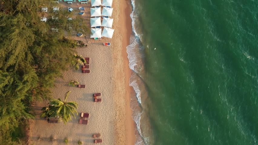 aerial view of pattaya sea beach chonburi eastern of thailand Royalty-Free Stock Footage #1059794636