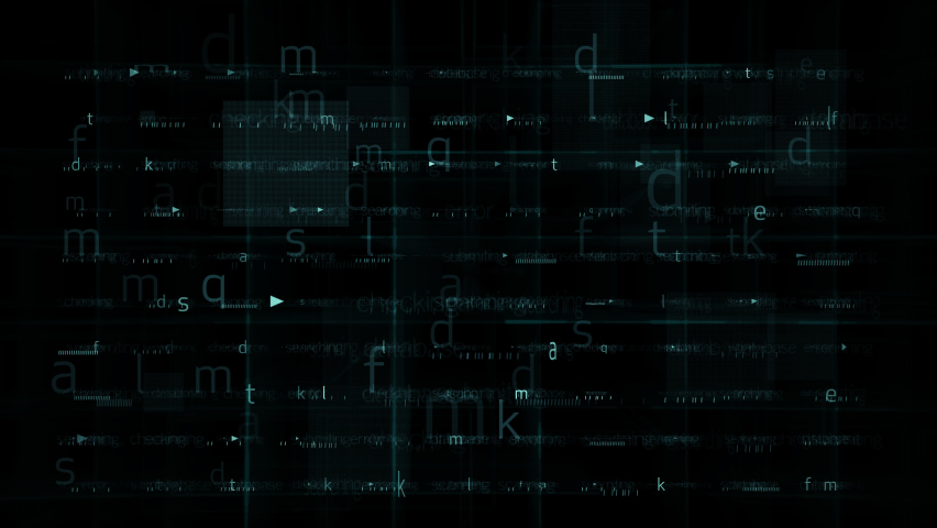 Digital letter running random position on background glow grid in concept futuristic technology background effect with 3d rendering. | Shutterstock HD Video #1059840038