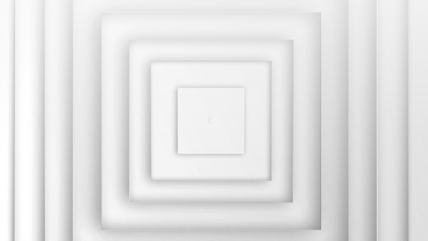 Animation of multiple 3d white squares moving in seamless loop in repetition on white background. Colour and movement concept digitally generated image. | Shutterstock HD Video #1059853868