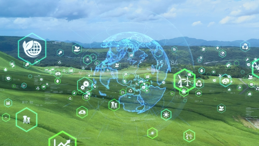 Environmental technology concept. Sustainable development goals. SDGs. Royalty-Free Stock Footage #1059861299