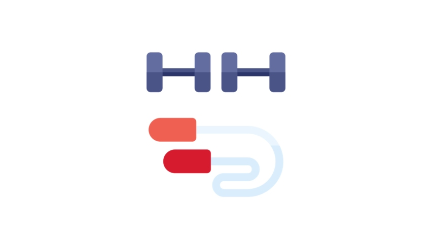 Exercise Flat Animated Icon. 4k Animated Icon to Improve Your Project and Explainer Video
