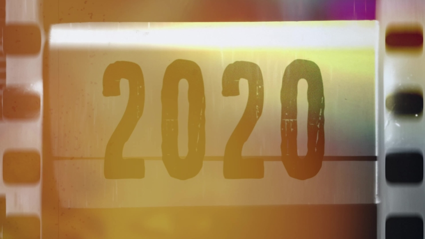 New year 2020 - 2021 transition old calendar | Shutterstock HD Video #1059885749