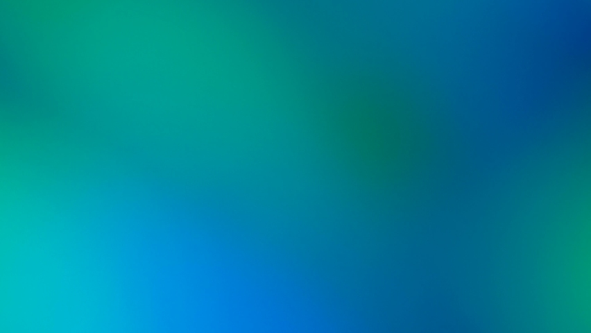Tidewater green and blue spectrum illusion light show. Color gradient animation. Moving soft blurred background. The colors vary with position, producing smooth color transitions Royalty-Free Stock Footage #1060037099