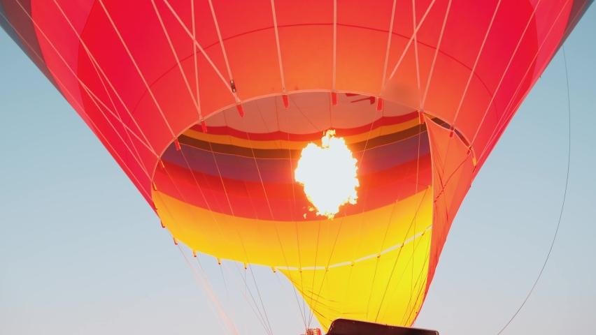 Amazing visual show, view, experience. Flight hot air balloons in Cappadocia 4K | Shutterstock HD Video #1060048727