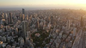 Aerial 4k Footage for Beirut City