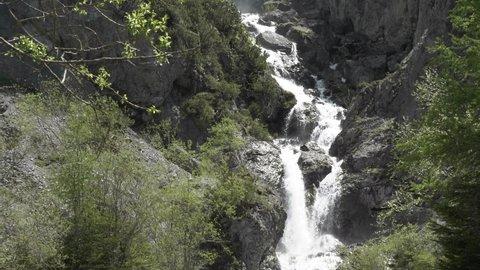 Waterfall Lechal alps, Simmswasserfall summer