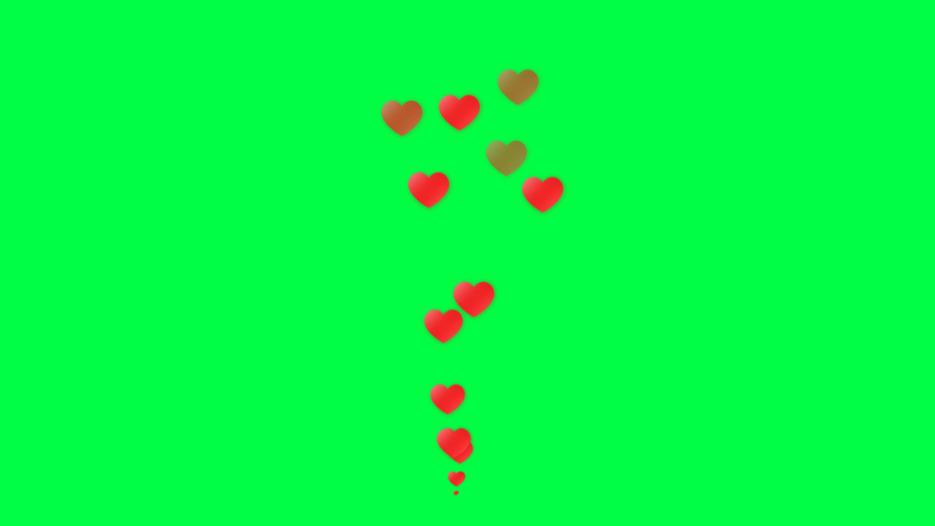 4K Social media Live style animated heart on green screen. 60 FPS | Shutterstock HD Video #1060107728