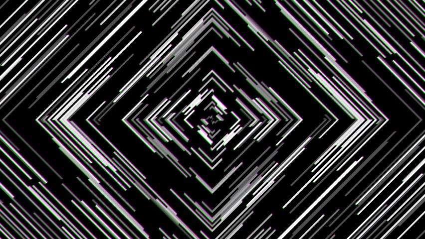 Awesome 80s Retro Monochrome Rgb Anaglyph Offset Diamond Rhombus Animation Mask