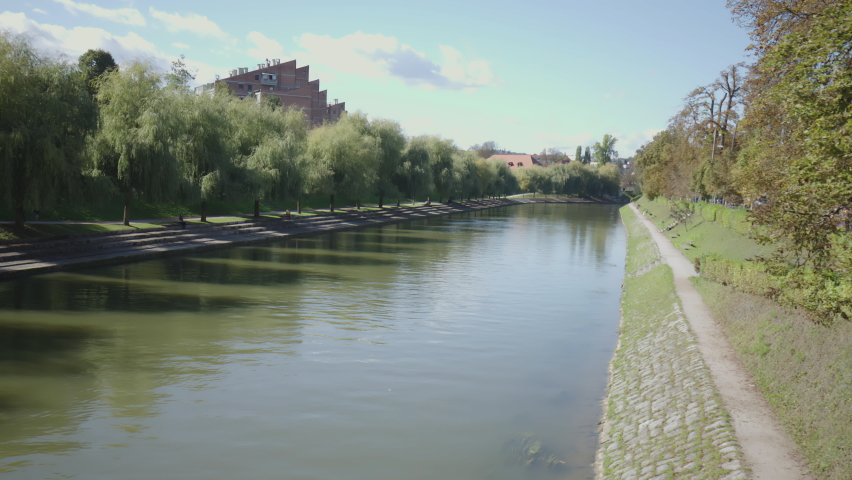 Walk over the Ljubljanica river 4K Royalty-Free Stock Footage #1060140167