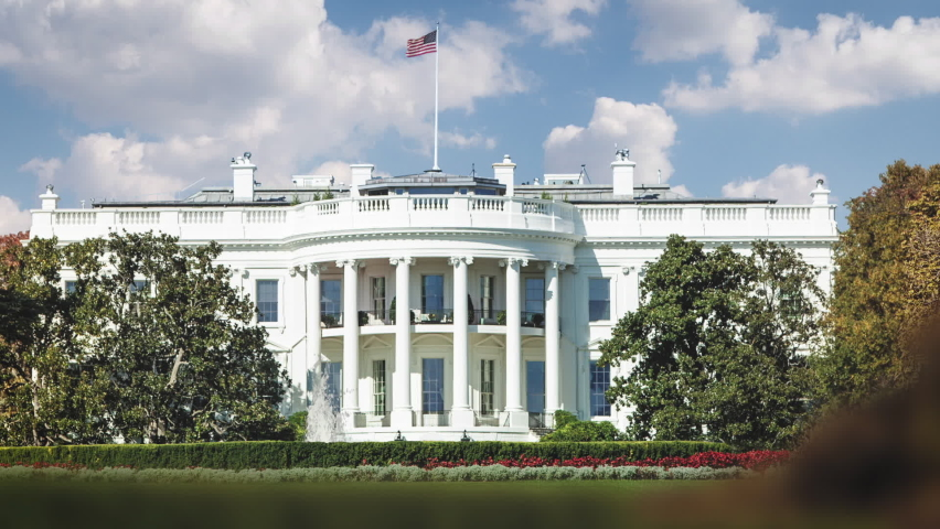 White House Time Lapse Slide Royalty-Free Stock Footage #1060140794