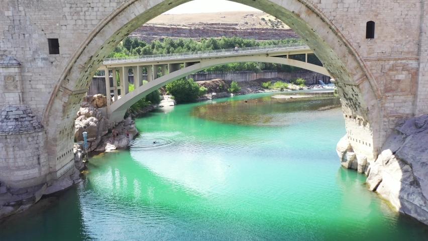The Malabadi Bridge is an arch bridge spanning the Batman River near the town of Silvan in southeastern Turkey.