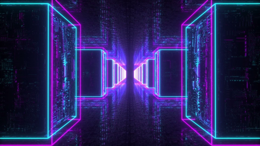 Neon Cyber Cubes Looped Background | Shutterstock HD Video #1060147385