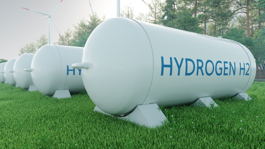 Hydrogen Storage In Renewable Energy Royalty-Free Stock Footage #1060210841