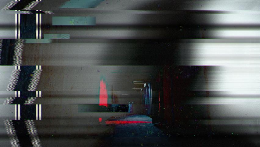 Halloween horror sequence, dark hallway in abandoned psychiatric ward, ghosts, Halloween | Shutterstock HD Video #1060213292