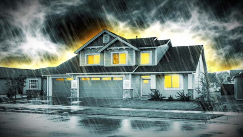 Haunted House on a stormy night.